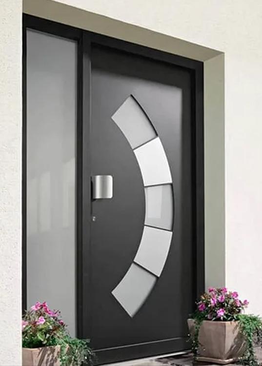 Puerta con fijo crital Ubrique