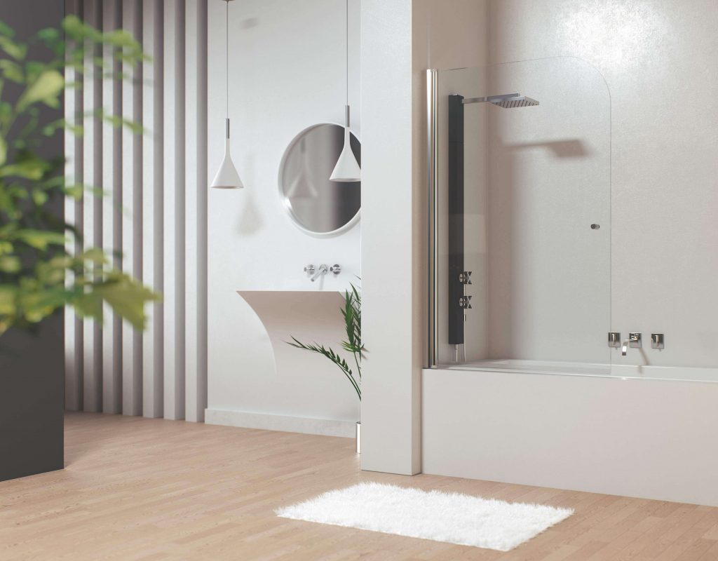 Mampara bañera abatible aluminio