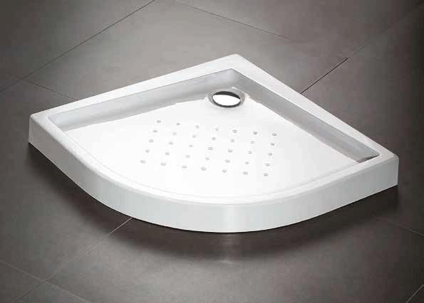 Plato de ducha acrílico curvo
