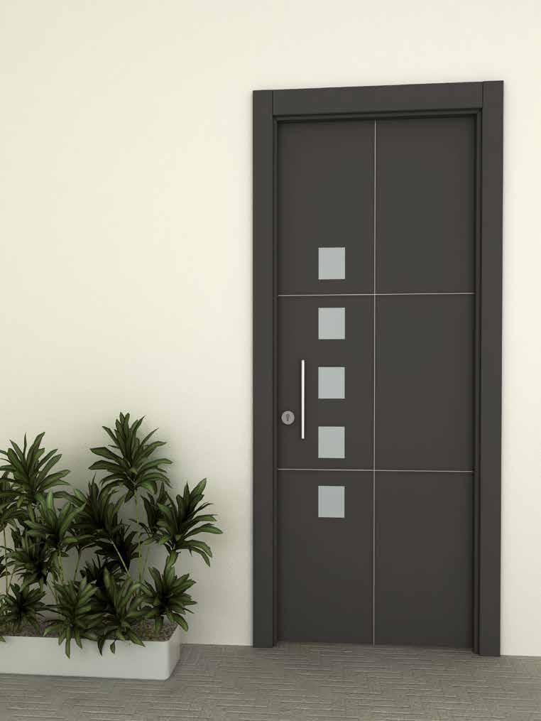 Puerta residencial aluminio acero inoxidable Ubrique