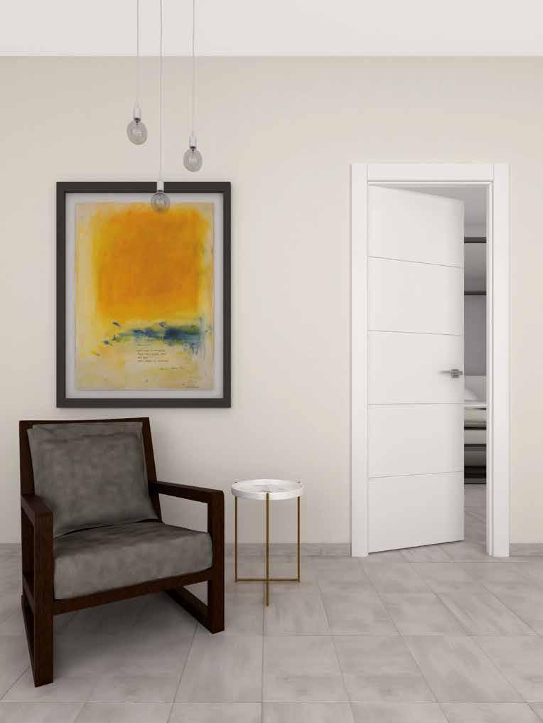 Puerta interior aluminio