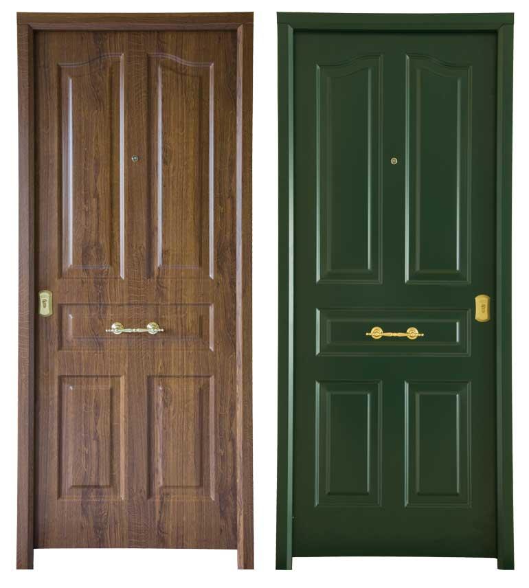 Puerta imtación madera