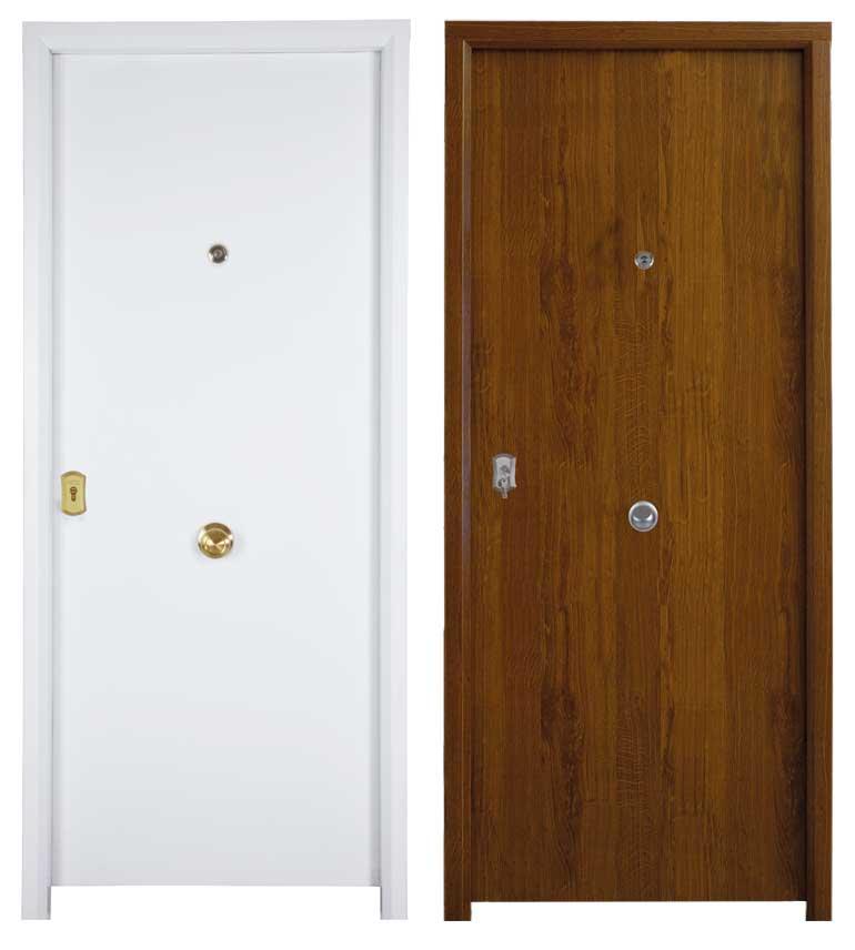 Puerta residencial imitación madera
