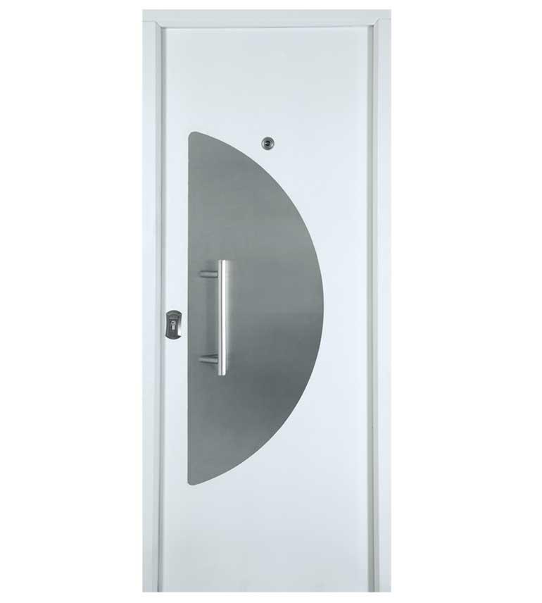 Puerta exterior acero inox